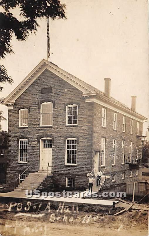 POS of a Hall - Schaefferstown, Pennsylvania PA Postcard