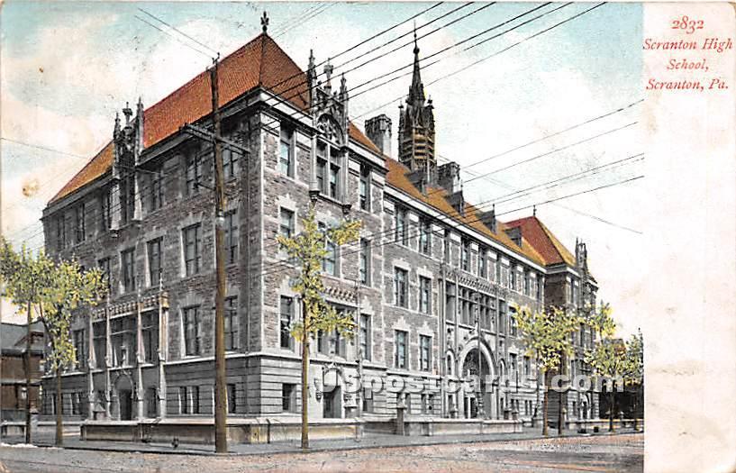 Scranton High School - Pennsylvania PA Postcard