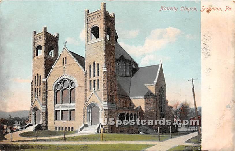 Nativity Church - Scranton, Pennsylvania PA Postcard