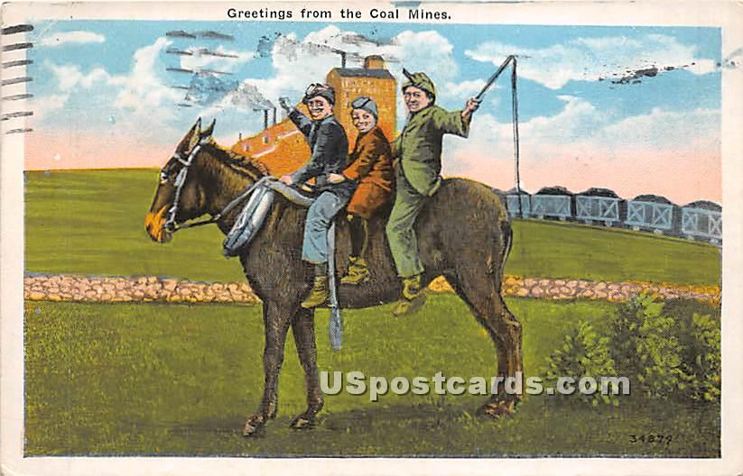 Greetings from the Coal Mines - Scranton, Pennsylvania PA Postcard