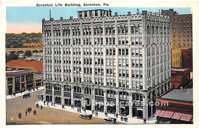 Scranton Life Building - Pennsylvania PA Postcard