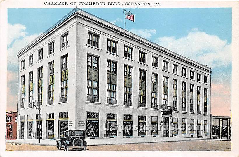 Chamber of Commerce Building - Scranton, Pennsylvania PA Postcard