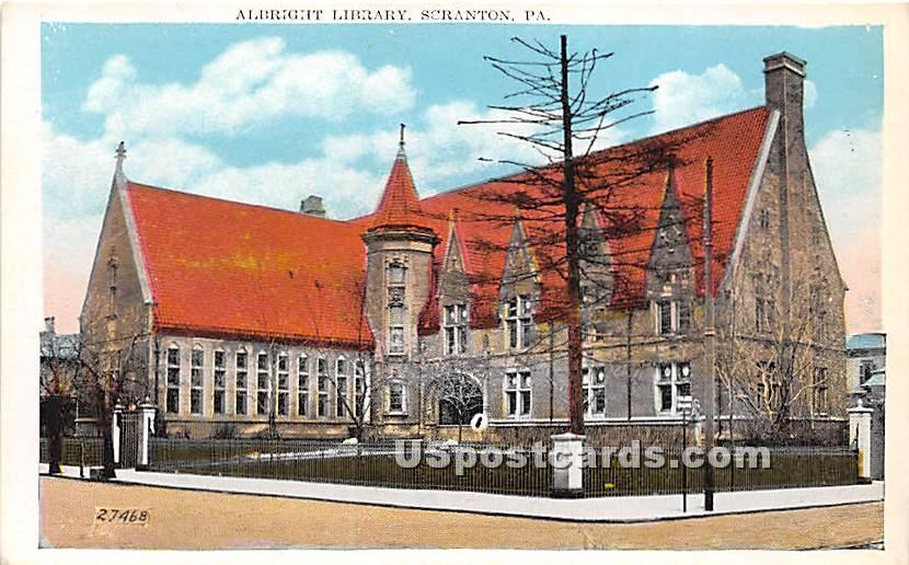 Albright Library - Scranton, Pennsylvania PA Postcard