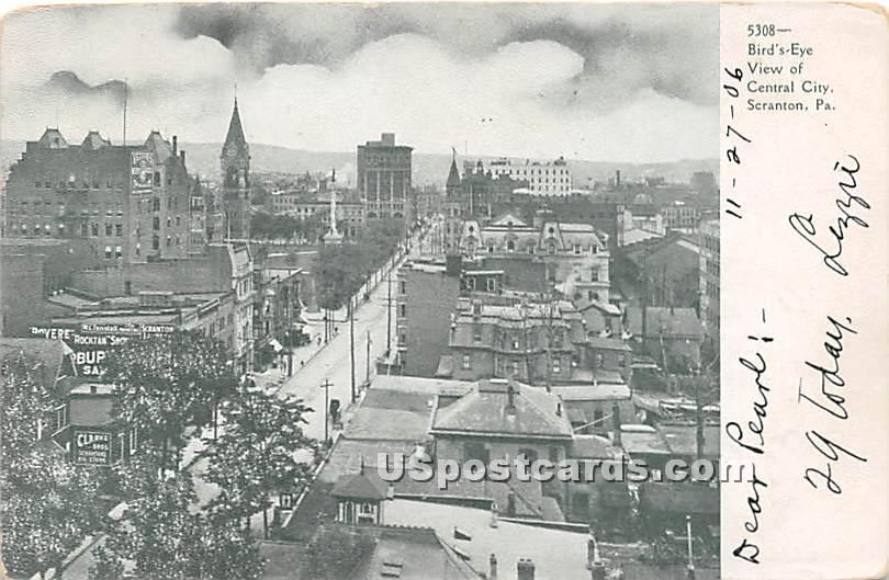 Central City - Scranton, Pennsylvania PA Postcard