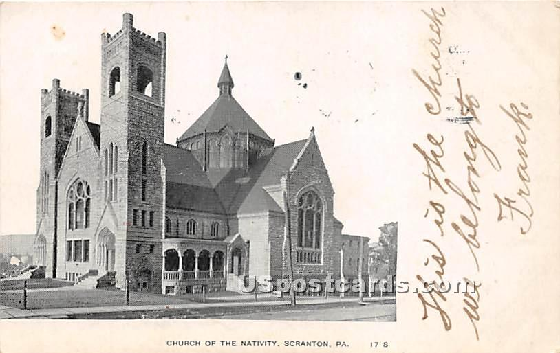 Church of the Nativity - Scranton, Pennsylvania PA Postcard