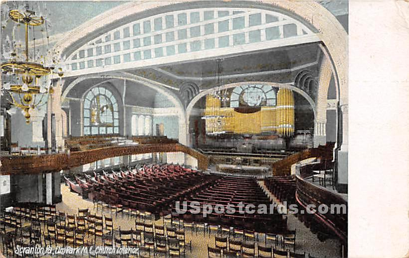 Elm Park ME Church - Scranton, Pennsylvania PA Postcard