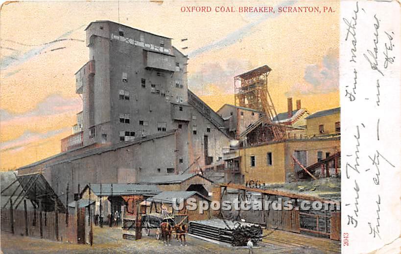 Oxford Coal Breaker - Scranton, Pennsylvania PA Postcard