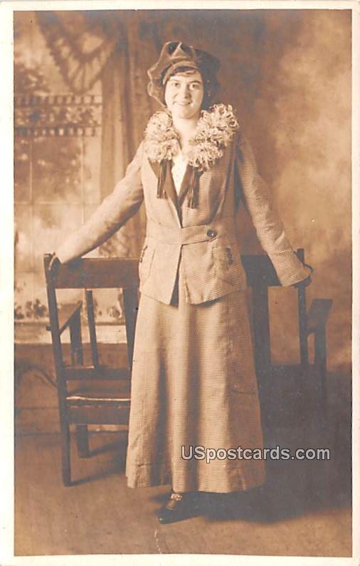 Young Woman - Scranton, Pennsylvania PA Postcard
