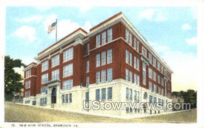 High School, Shamokin - Pennsylvania PA Postcard