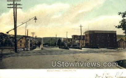 Market Street - Shamokin, Pennsylvania PA Postcard