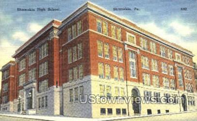 Shamokin High School - Pennsylvania PA Postcard