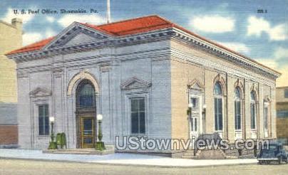 US Post Office, Shamokin - Pennsylvania PA Postcard