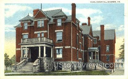 Buhl Hospital - Sharon, Pennsylvania PA Postcard