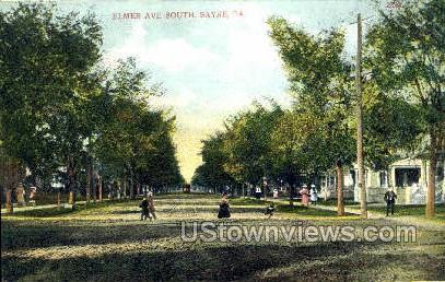 Elmer Ave. - Sayre, Pennsylvania PA Postcard