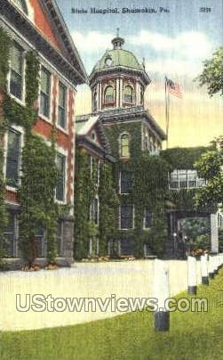State Hospital, Shamokin - Pennsylvania PA Postcard