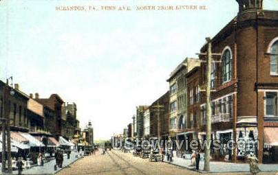 Penn. Ave - Scranton, Pennsylvania PA Postcard