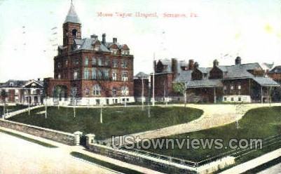 Moses Taylor Hopstial - Scranton, Pennsylvania PA Postcard