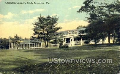 Scranton Country Club - Pennsylvania PA Postcard