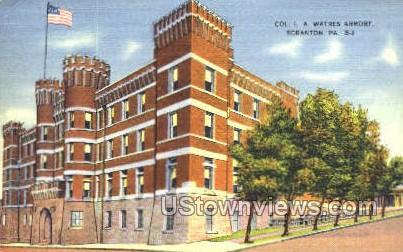 Col. L.A. Watres Armory - Scranton, Pennsylvania PA Postcard