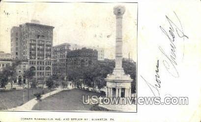 Washington Ave. - Scranton, Pennsylvania PA Postcard