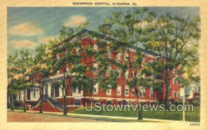 Hahnemann Hospital - Scranton, Pennsylvania PA Postcard