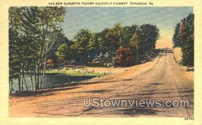 Scranton Pocono Daleville Highway - Pennsylvania PA Postcard