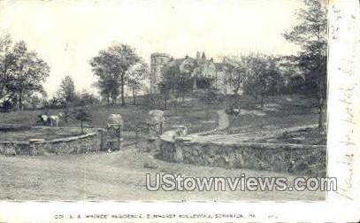 Col. L A Watres' Residence - Scranton, Pennsylvania PA Postcard