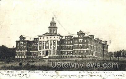 Mount St. Mary Seminary - Scranton, Pennsylvania PA Postcard