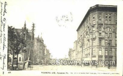 Wyoming Ave. - Scranton, Pennsylvania PA Postcard