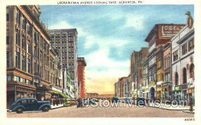 Lackawanna Ave. - Scranton, Pennsylvania PA Postcard