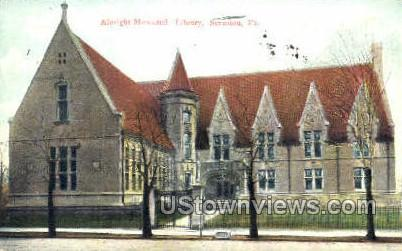 Albright Memorial Library - Scranton, Pennsylvania PA Postcard