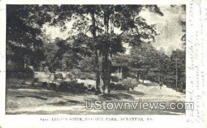 Linden Drive, Nay Aug Park - Scranton, Pennsylvania PA Postcard