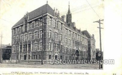 Central High School - Scranton, Pennsylvania PA Postcard