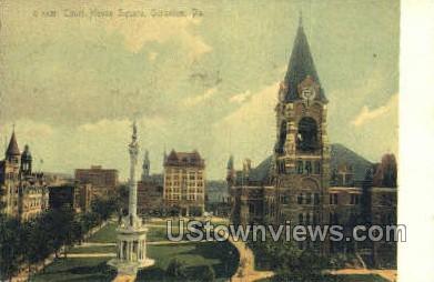 Court House Square, Scranton - Pennsylvania PA Postcard
