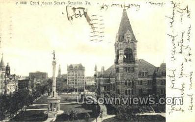 Court House Square Scranton - Pennsylvania PA Postcard