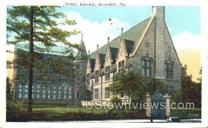 Public Library, Scranton - Pennsylvania PA Postcard