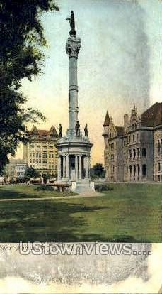 Soldiers Monument - Scranton, Pennsylvania PA Postcard