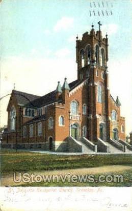 St. John the Evangelist Church - Scranton, Pennsylvania PA Postcard