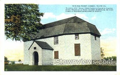 The Old Trappe Church - Pennsylvania PA Postcard