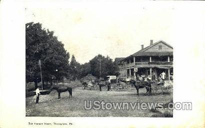 Corner Store - Thompson, Pennsylvania PA Postcard