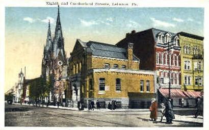 Eighth Street - Lebanon, Pennsylvania PA Postcard