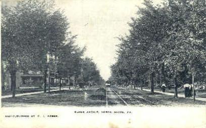 Elmer Avenue - Sayre, Pennsylvania PA Postcard