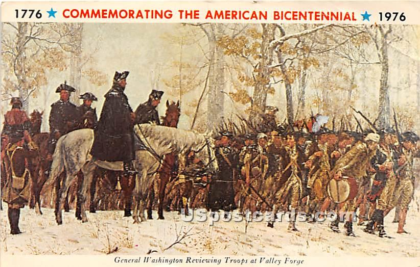 Commemorating the American Bicentennial 1776-1976 - Valley Forge, Pennsylvania PA Postcard