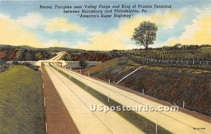 Pennsylvania Turnpike - Valley Forge Postcard