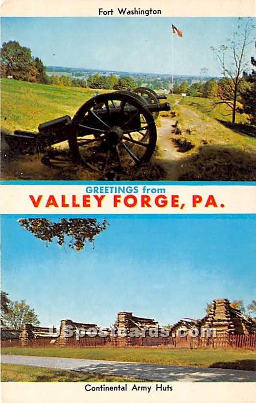 Continental Army Huts - Valley Forge, Pennsylvania PA Postcard