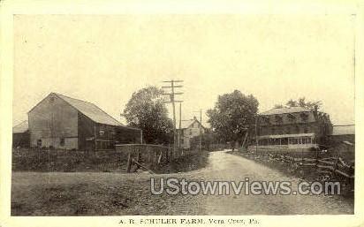 A.R. Schuler Farm - Vera Cruz, Pennsylvania PA Postcard