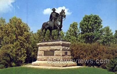 Statue of Gen. Anthony Wayne - Valley Forge, Pennsylvania PA Postcard