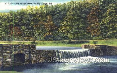 Old Forge Dam - Valley Forge, Pennsylvania PA Postcard