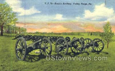 Knox's Artillery - Valley Forge, Pennsylvania PA Postcard
