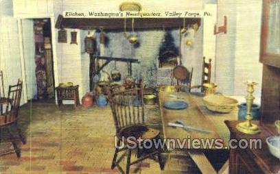 Kitchen, Washington Headquarters - Valley Forge, Pennsylvania PA Postcard